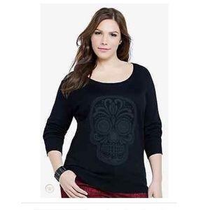 Torrid Rockabilly Sugar Skull Pull Over Sweater